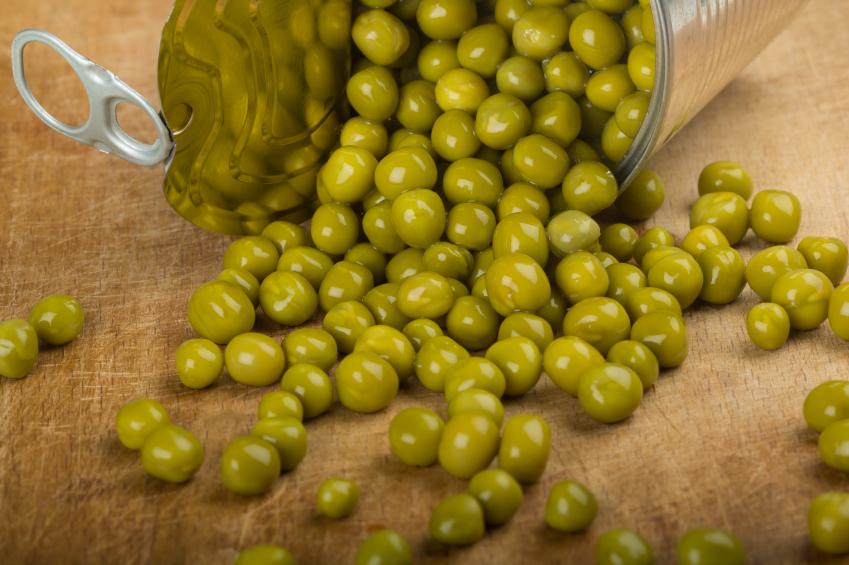 Картинка консервированный зеленый горошек