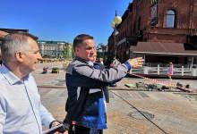 Т Плюс чинит трубопровод на Московской