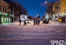 Снегопад в Пензе, 14.01.2021