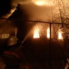 В Пензе полыхающий дом тушили 17 человек