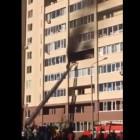 В Пензе произошел серьезный пожар в новостройке на Антонова
