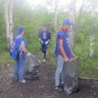 В Пензе с берега Суры вывезли более шести кубометров мусора