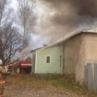 Полыхающее здание в Леонидовке тушили 43 пожарных