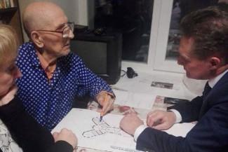 Виктор Кувайцев представил почетному гражданину Ивану Балаеву проект реконструкции пензенского планетария