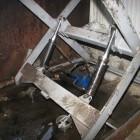 Появились фотографии с места гибели рабочего на Окружной