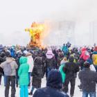 Тысячи пензенцев отпраздновали Масленицу в Городе Спутнике