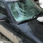 В центре Пензы авто пострадало от снега