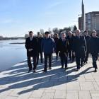 Губернатор и мэр Пензы проверили,как идет реконструкция набережной
