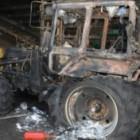 Вспыхнул как спичка: ночью в Пензе сгорел трактор