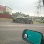 «Суровые пензенские мужики» перемещаются по городу на бронетранспортерах