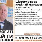 В Пензенском районе бесследно исчез Николай Шереметьев