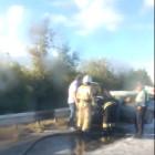 Сгоревшую в Пензенской области иномарку сняли на видео