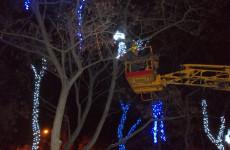 Железнодорожный район Пензы уже сияет новогодними огнями