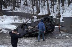 В Пензе нашли оставленную людьми перевернувшуюся машину