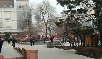 Серьезный пожар в Пензе: загорелся торговый центр «Пассаж»