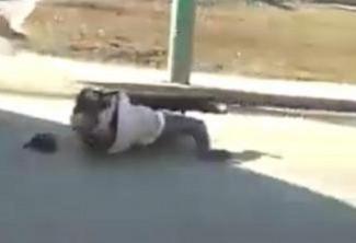 Схватка на дороге. В Пензе водители двух маршруток дрались, катаясь по земле. ВИДЕО