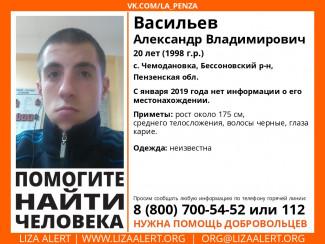 В Пензенской области разыскивают 20-летнего Александра Васильева