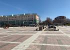 Площадь Ленина переложили за сутки