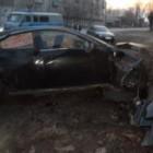 ДТП в Пензенской области. Протаранив кирпичную стену «Mazda 6» превратилась в металлолом
