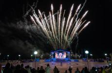День Победы в Спутнике завершился красочным салютом