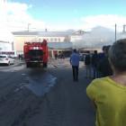 Дым над ПГУ. На территории университета случился пожар