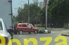 В пензенском Арбеково скутер столкнулся с легковушкой