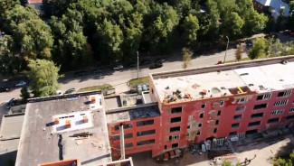 Реконструкция здания «Пензенской правды»: что там сейчас происходит. Вид с высоты птичьего полета