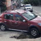 В Пензе иномарка попала в «черную дыру»