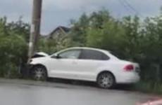 Жесткая авария в Пензе: иномарка влетела в столб