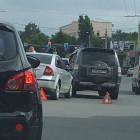 В самом центре Пензы столкнулись сразу три машины
