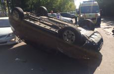 Массовое ДТП в пензенском Арбеково: одна из машин перевернулась на крышу