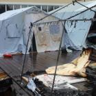 Страшный пожар в палаточном лагере унес жизнь ребенка