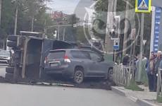 Стало известно, кто пострадал в ДТП с перевернувшимся грузовиком в Пензе