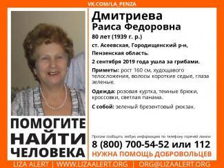 В Пензенской области исчезла 80-летняя пенсионерка