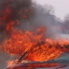 Ночной пожар в Пензе всполошил жителей Арбеково