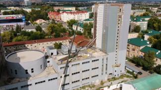 Строители начали крыть крышу пензенского цирка – вид с высоты птичьего полета
