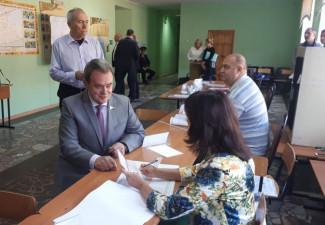 Валерий Лидин отдал свой голос в пользу одного из кандидатов