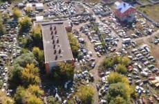 Кладбище автомобилей под Пензой: как это выглядит сверху