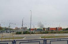 Стало известно, что горит за торговым центром «Коллаж» в Пензе