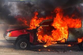 В Пензе снова вспыхнул автомобиль
