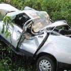 В Пензенской области водитель ВАЗ-2110 опрокинулся в кювет
