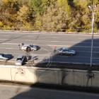 На одном из мостов Пензы легковушка снесла ограждение и чуть не упала вниз