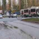 В Пензе легковушка столкнулась с троллейбусом