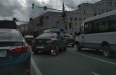 Авария в Пензе: центр города замер в пробке
