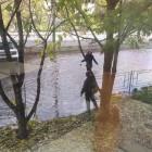 На улице Калинина в Пензе дети вышли «купаться» в новом «озере»