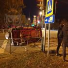 В результате жесткого ДТП в Пензе опрокинулся внедорожник