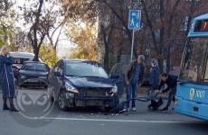 В Пензе улица Калинина замерла в пробке из-за ДТП