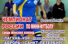 В Пензе состоится II тур чемпионата России по мини-футболу среди женских команд