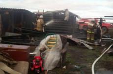 Появились фото с места пожара в Пензенской области, из-за которого эвакуировали трех детей