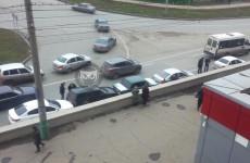 Массовое ДТП в центре Пензы: на улице Пушкина столкнулись четыре машины